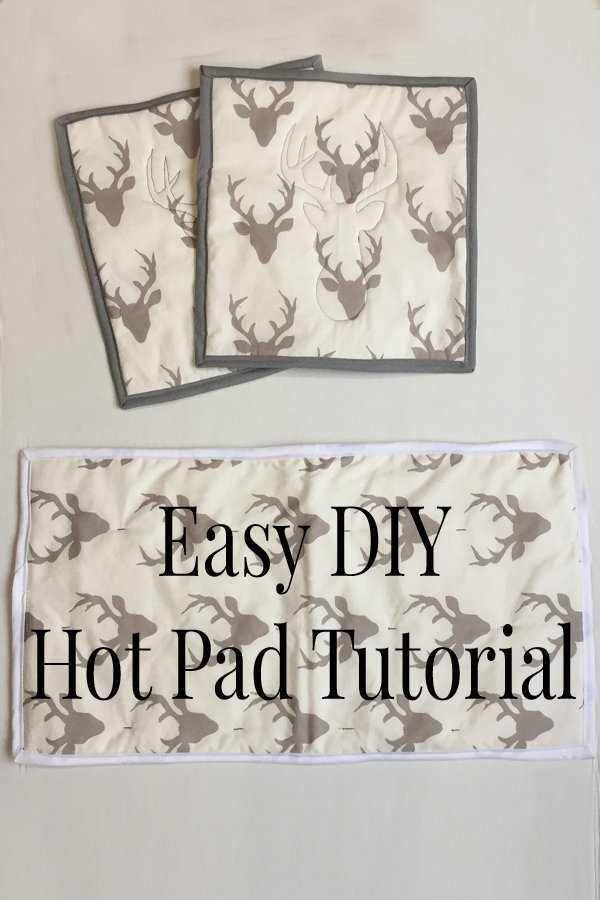 Easy DIY Hot Pad Tutorial These are so simple to make and I LOVE the cute embroidered image I can add in the middle. Such a CUTE idea!