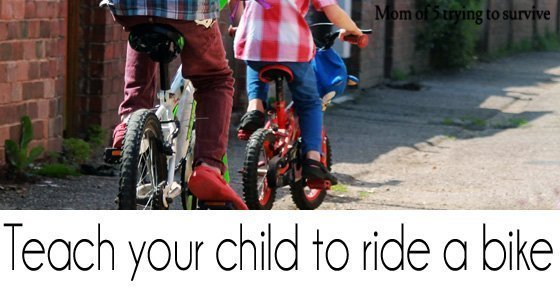 Teach your child to ride a bike. Make your own balance bike