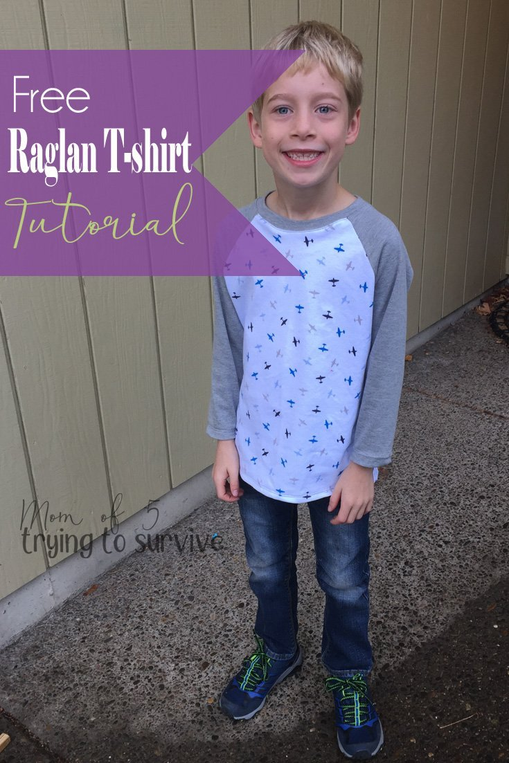 Make your own raglan t-shirt pattern | I love being able to make a pattern from my kids clothes. #raglantee #makeyourownpattern #raglantshirt #sewingpattern