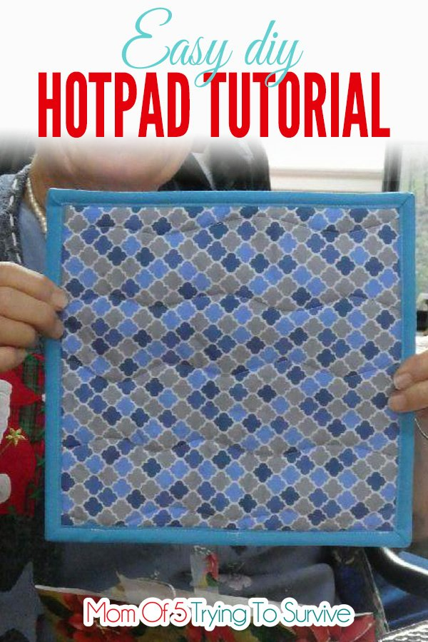 Follow this tutorial to make an easy diy hotpad