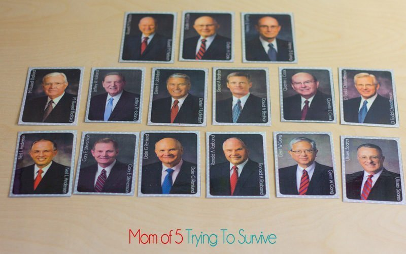 putting the apostle game cards in order of seniority