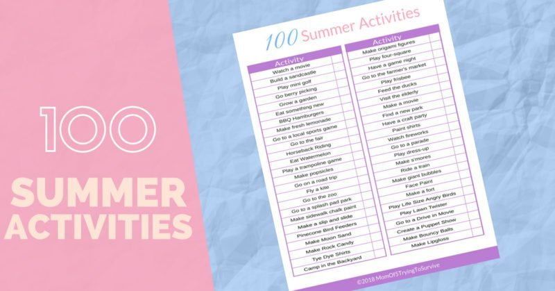 100 Summer Activities | There are so many fun activities that are going to keep us busy this summer. I'm really excited to try the solar oven! #summeractivities #summerfun #outsideactivities #summeractivitychart