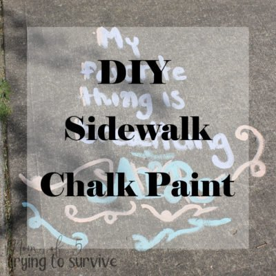 Make your own sidewalk chalk paint for hours of fun outside in the sun