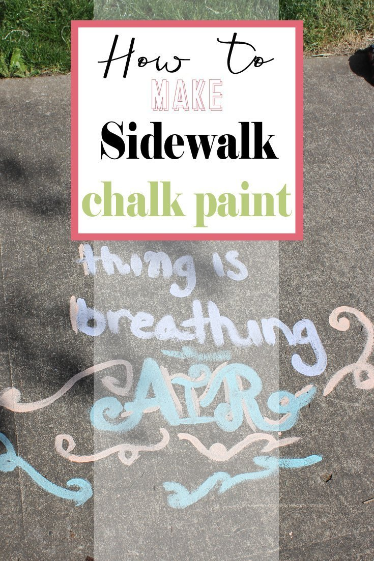 Make Sidewalk Chalk Paint | Making sidewalk chalk paint is so easy. My kids are loving this!