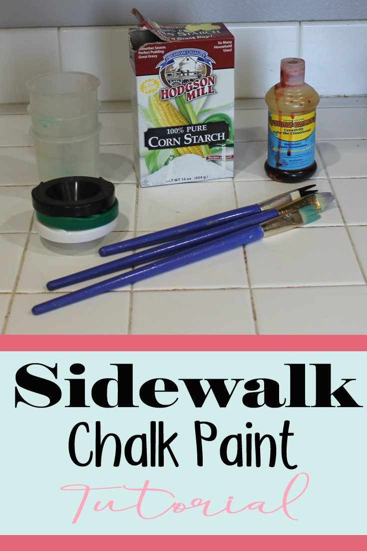 Sidewalk Chalk Paint | This was so fun for my kids. Sidewalk Chalk is so easy to make. We are going to do this lots this summer.