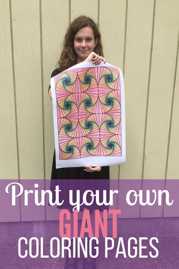 Giant Coloring Pages | This is such a cute idea. We'll definitely be doing this.