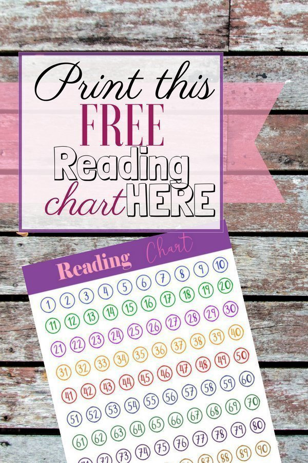 Reading Chart Printable | We are setting a goal to read 300 books this summer and this is the perfect way to keep track.
