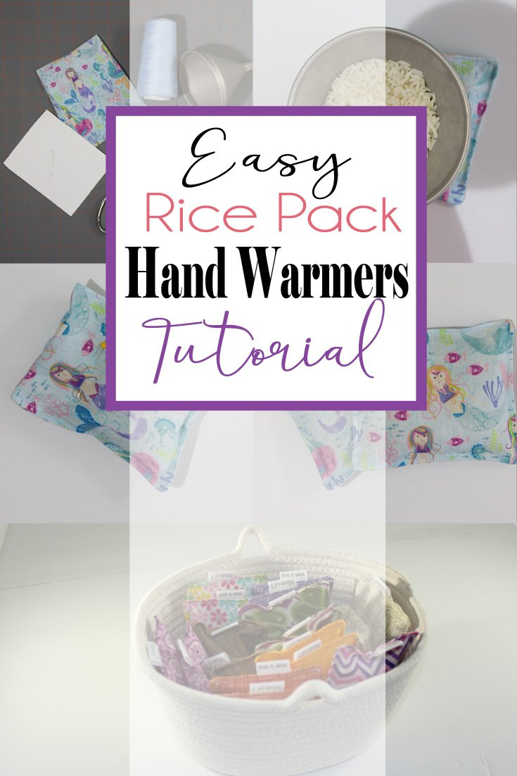 Easy Rice Pack Hand Warmers | These are so quick and easy to make. #easysewingproject #ricepack #ricepacktutorial #handwarmers