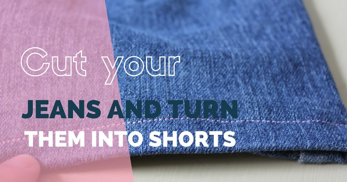 Holey jeans into shorts
