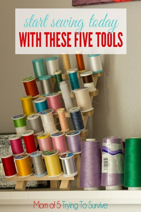 start sewing today with these five sewing tools. You don't need anything more than this to start sewing