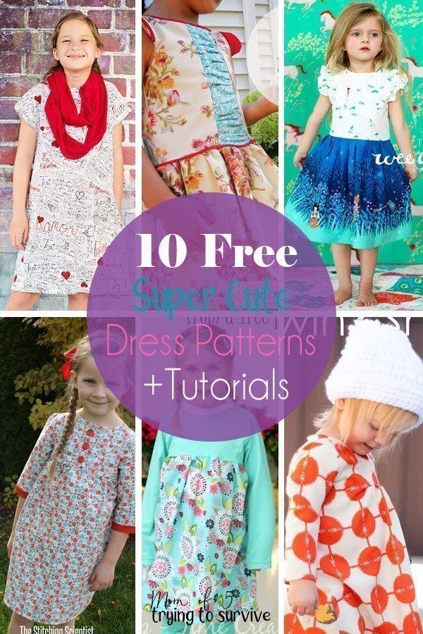 84491c145 10 Super Cute Free Girls Dress Patterns and Tutorials