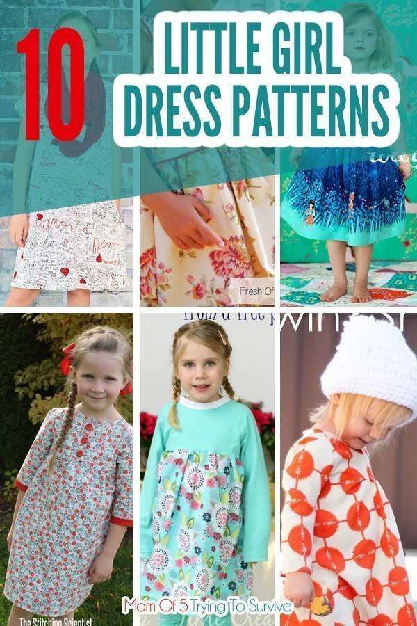 Here is a list of 10 free dress patterns for little girls