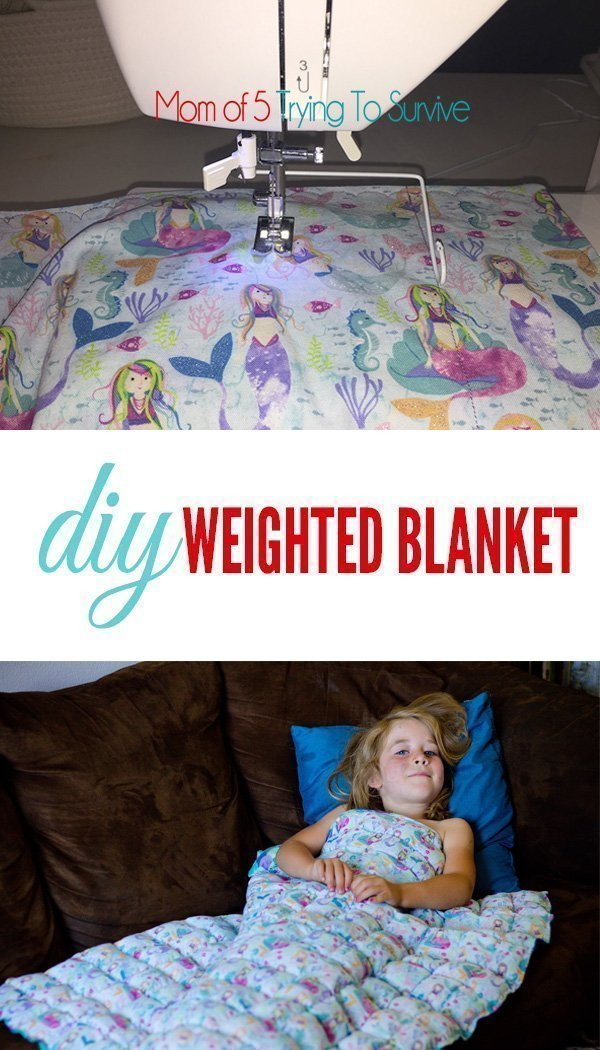 Free Weighted Blanket Tutorial Mom Of 5 Trying To Survive