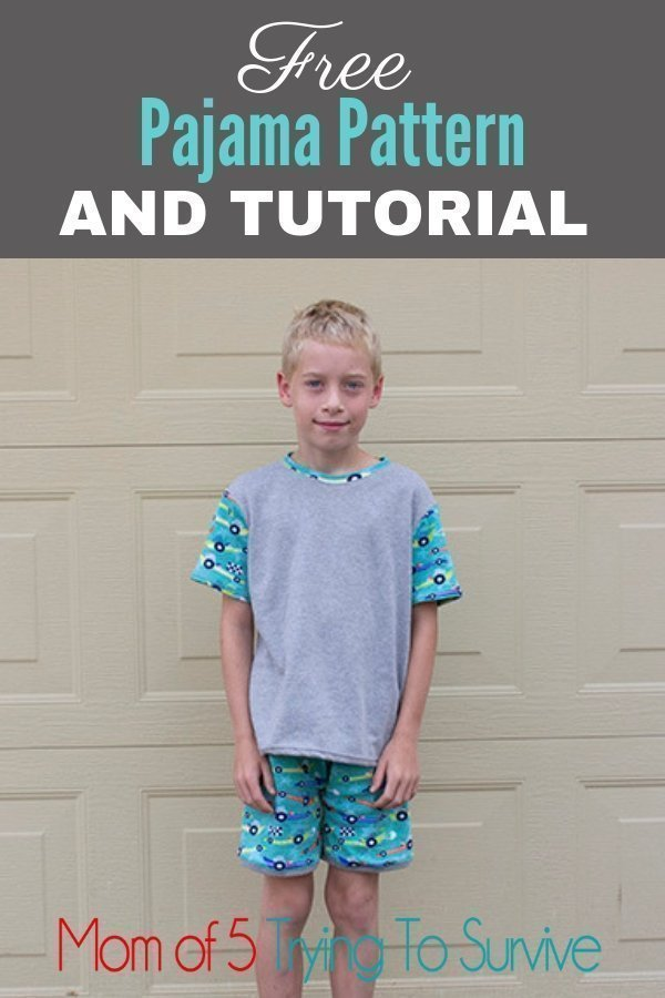 Free DIY boy pajamas pattern. Very detailed tutorial.