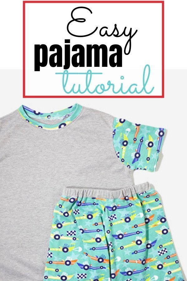 Very easy DIY boy pajama tutorial. Free Pattern.