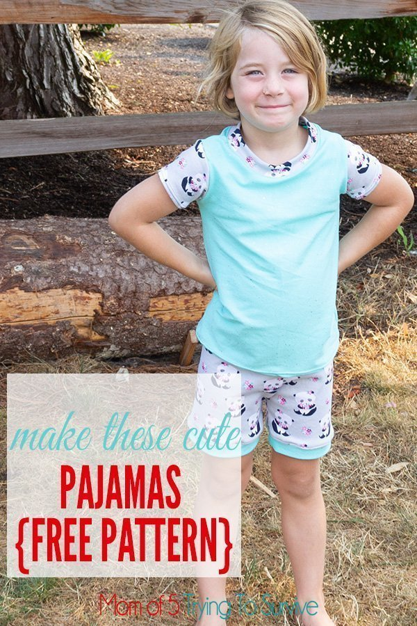 Follow this great tutorial and free pattern to make these cute summer pajamas for your little girl