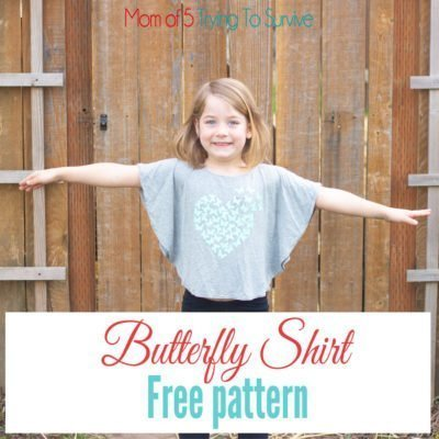 Butterfly Shirt for little girls