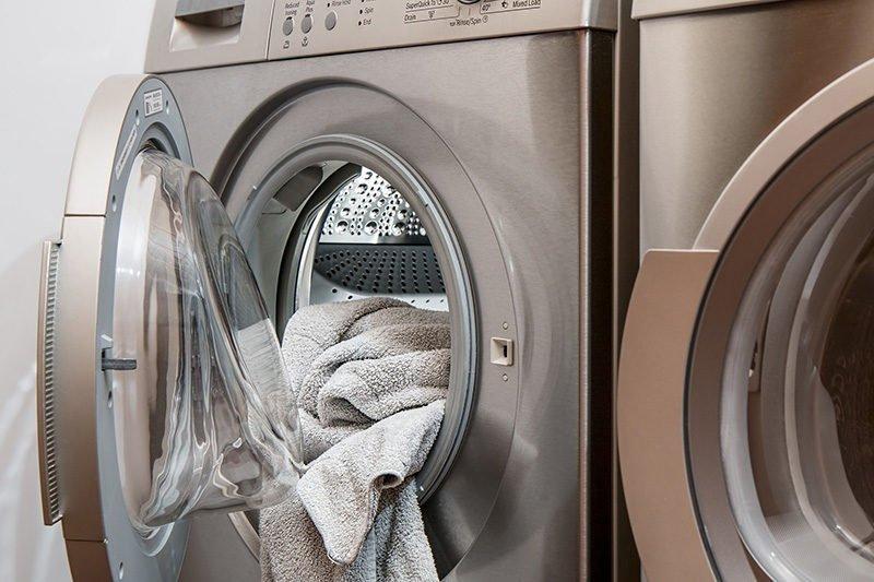 loaded washing machine