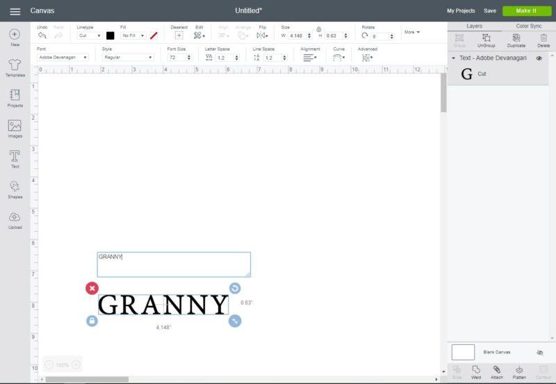 type grandma or granny