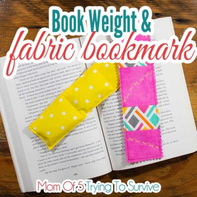 Book weight and fabric bookmark tutuorial