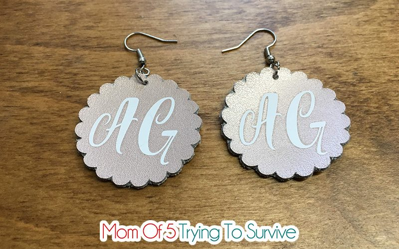 leather earrings made with cricut maker